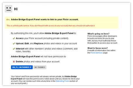 how to upload to flickr using adobe bridge