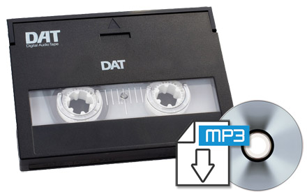 DAT Tape transfer Service | DAT Tape to CD