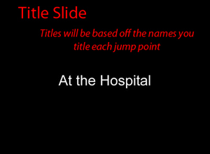 example of what a title slide will be on your custom dvd video slideshow