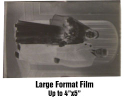 large format film conversion to digital