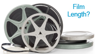 Estimate your film length, how much film do I have, 8mm, Super8, 16mm movie film lengths