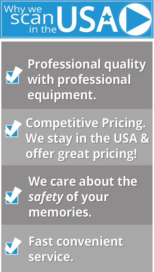 why we scan in the usa - professional scanning service