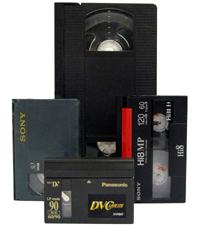 vhs transfer, 8mm transfer, hi8 transfer ,digital 8 transfer, mini dv transfer, vhsc transfer, betamax transfer